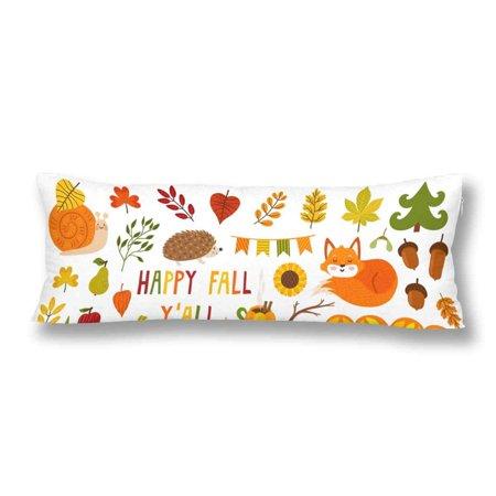 Fall Festival Food Ideas (ABPHOTO Autumn Cartoon Plant Food Body Pillow Covers Pillowcase 20x60 inch Fall Harvest Festival Thanksgiving Body Pillow Case)