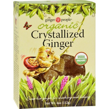 Organic Gin (Ginger People Organic Crystallized Ginger Box - 4 Oz - Pack of)