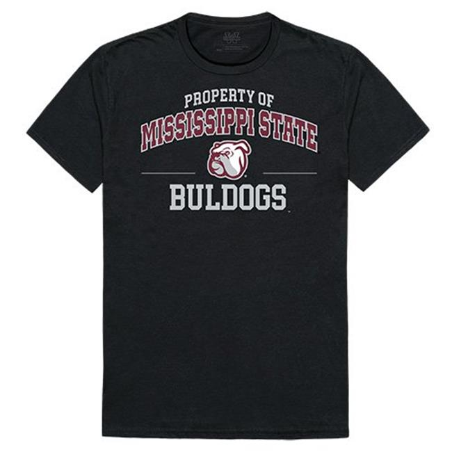 W Republic Apparel 517-133-E27-04 Mississippi State University Property College Tee Shirt - Black, Extra Large