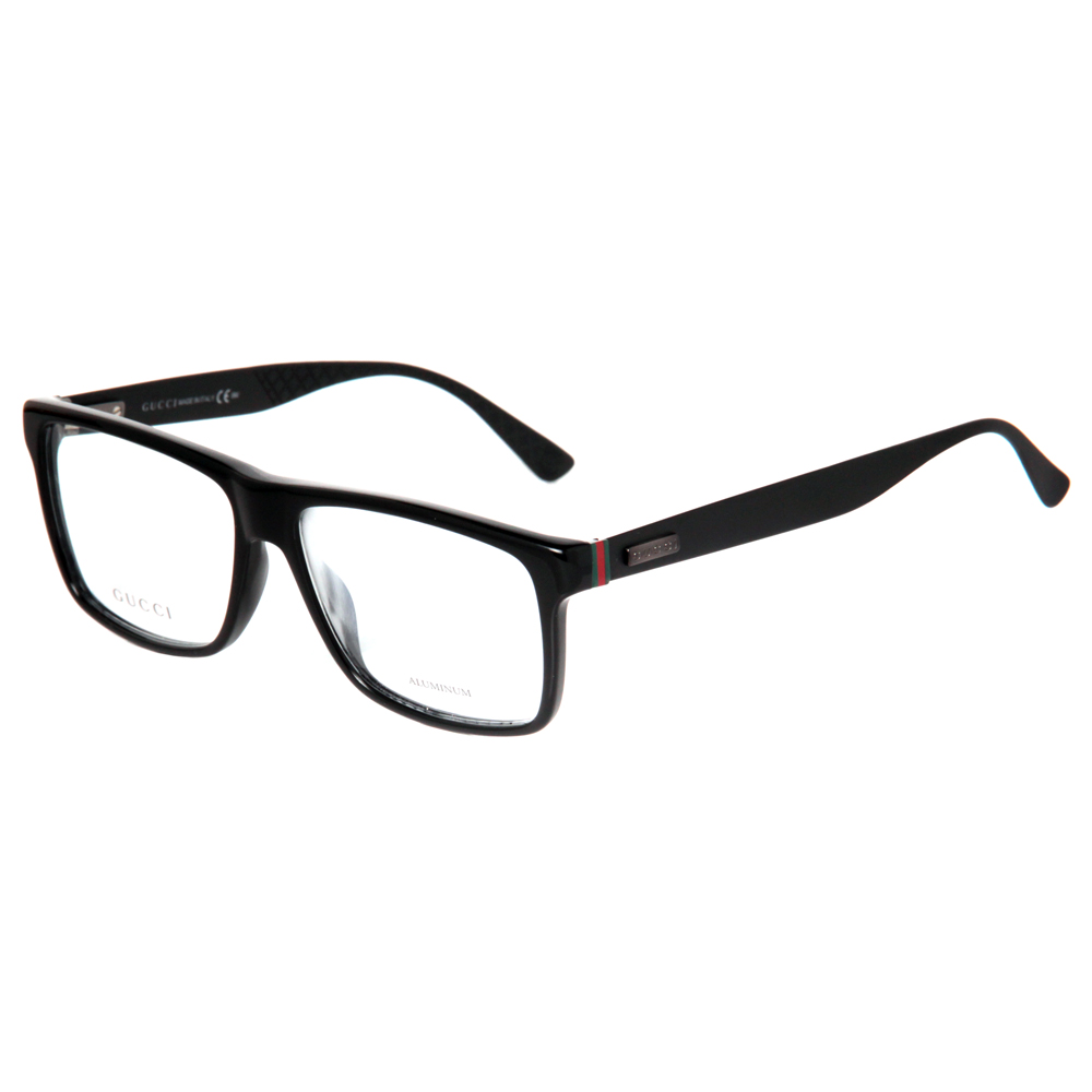 Gucci GG 1077 263 55mm Shiny Black/Matte Black Men\'s Aluminum ...