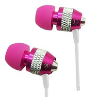Heavy Duty 3.5mm Stereo Earbuds for LG G Pad 10.1/ G Pad 8.0/ G Pad 7.0/ G Pad 8.3 (Hot Pink) - with Microphone + Stylus, High Fidelity Earbuds By MyNetDeals,USA