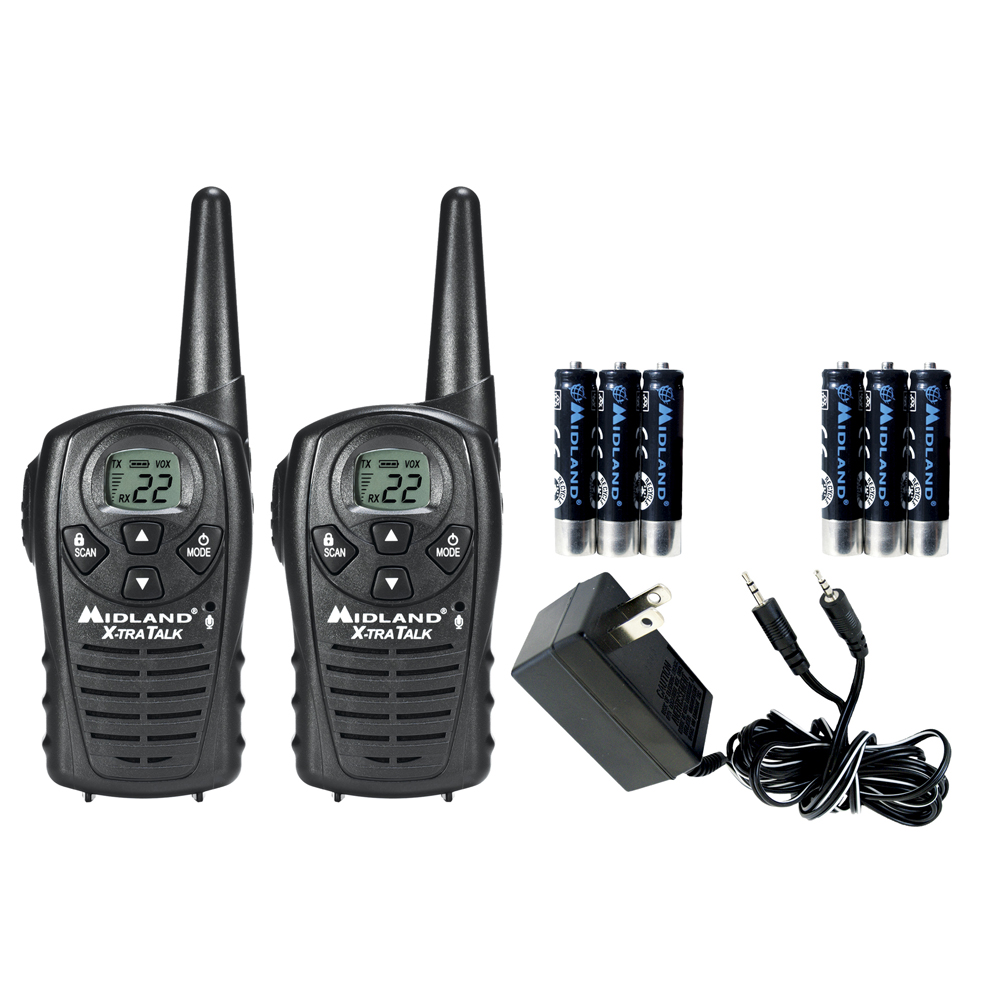 Midland GMRS 2-Way Radio with 22 Channels Value Pack, LXT118 by Midland