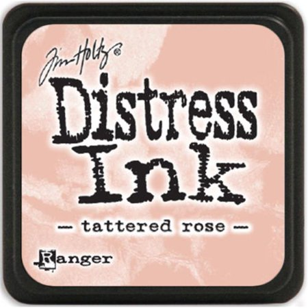 Tim Holtz Distress Mini Ink Pads-Tattered Rose Ink Pad Old Rose