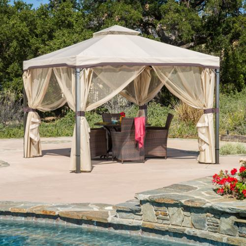 Christopher Knight Home Skyline Fabric Gazebo by by Overstock