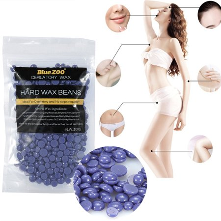 HURRISE 100g/Bag Hard Wax Beans,10 Flavors Rapid Melt Hair Removal Hard Wax Waxing Beans ()