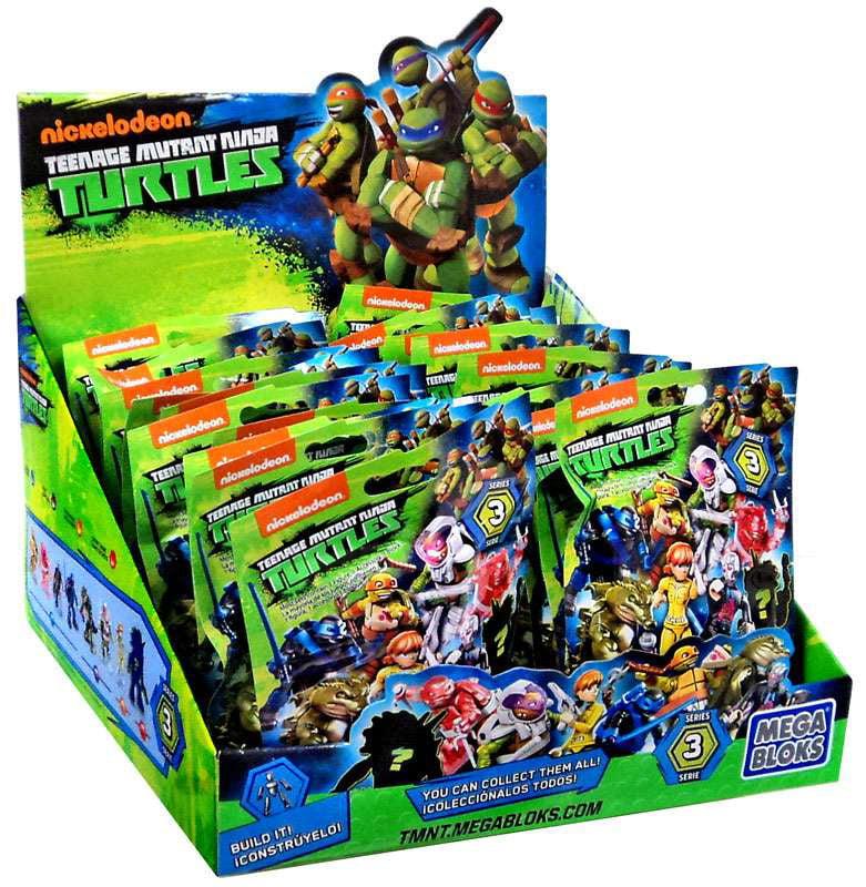 Mega Bloks Teenage Mutant Ninja Turtles Animation TMNT Series 3 Mystery Box by