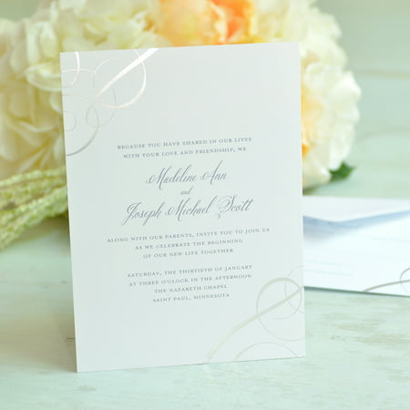 Gartner Studios Swirl Invitation, 50 Piece