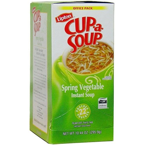 Lipton Cup-A-Soup Spring Vegetable Soup 22 Pouches by Unilever