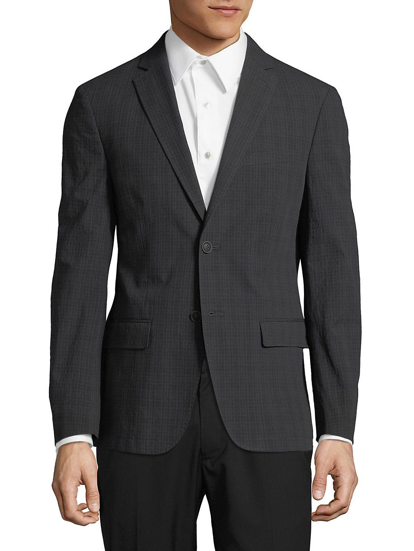 Plaid Notch Lapel Jacket