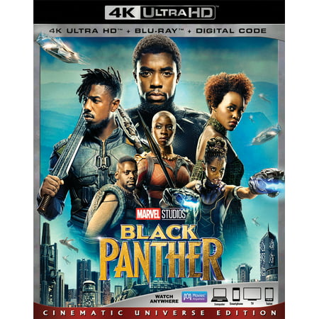 Black Panther  4K Ultra Hd   Blu Ray   Digital Code