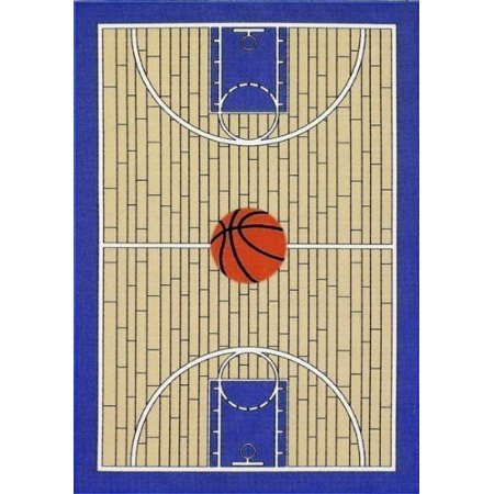 Furnish my Place Basketball Court Kids Blue Area Rug (Best Place To Get Rugs)