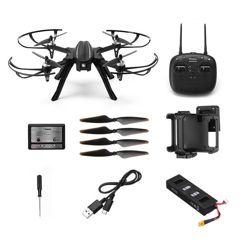 Eachine EX2H Drone 1080P HD Camera Brushless Motors Altitude Hold On//Off RTF