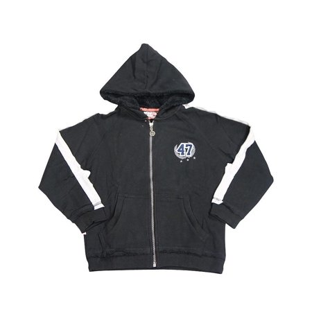 Wild Mango Toddler and Boys Sizes 2T - 8 Fashion Hoodie Zip-Up Sweatshirt Jacket, 32048 black / - Mn Wild Hoodie