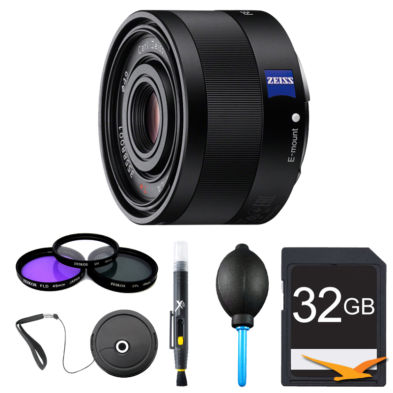 Sony Sonnar T* FE 35mm F2.8 ZA Camera Lens Bundle