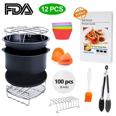 8 inch XL Air Fryer Accessories 11 pcs with Recipe