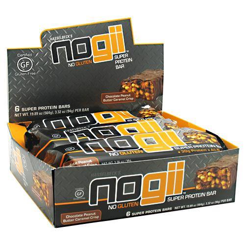 NoGii Super Protein Bars, Chocolate Peanut Butter, 6 Count