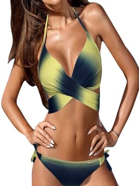 f53b227776 Product Image Women Swimwear Bikini Set Bandage Push-Up Padded Swimsuit  Bathing Beachwear