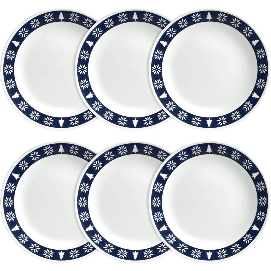 Corelle Livingware Dinner Plate, Nordic Blue, Set of 6