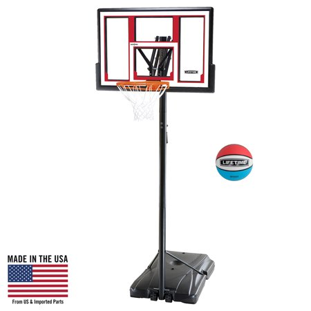 Lifetime Adjustable Portable Basketball Hoop (Rubber Basketball Included), 90491 - Cheap Basketball Hoop