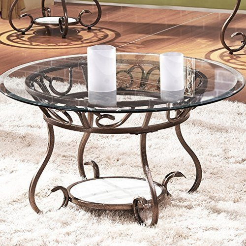 Fleur De Lis Living Crossen Base Coffee Table
