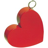 Anagram Valentine's Day Plastic Heart On Side 2.8 oz Balloon Weight, Red