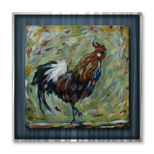 All My Walls 'Rooster' by Danlye Jones Painting Print Plaque