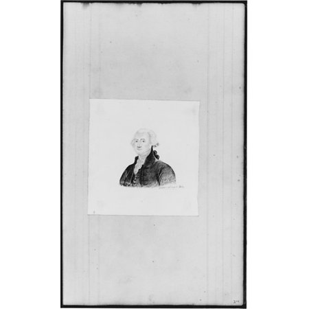Bust Portrait of George Washington (from Sketchbook) Poster Print by John William Casilear (American New York 1811–1893 Saratoga Springs New York) (18 x 24)