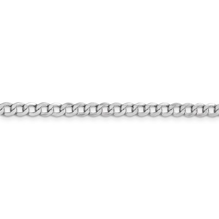 14K White Gold 4.3mm Semi-Solid Curb Link Chain 20 Inch - image 4 of 5
