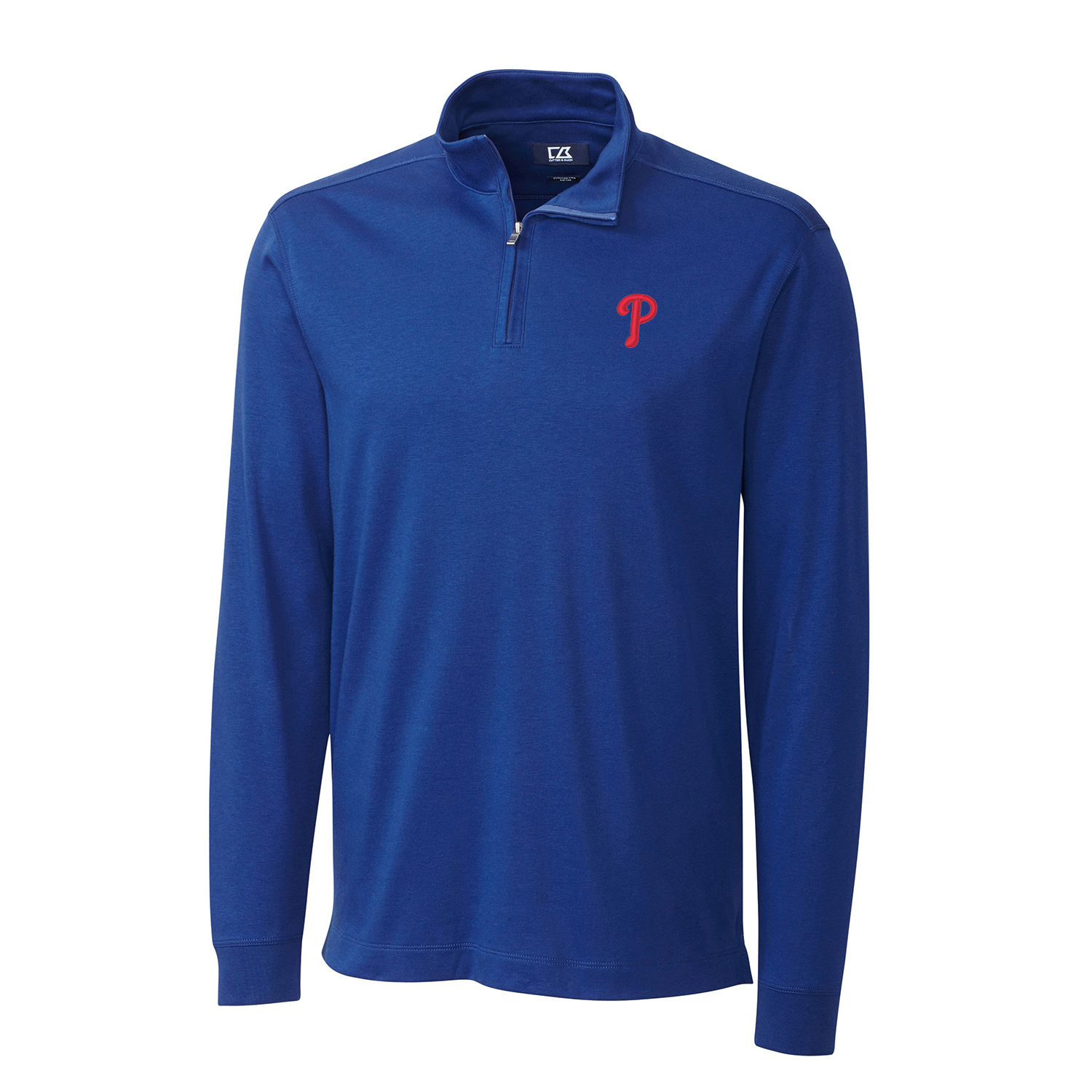 Men's Cutter & Buck Royal Philadelphia Phillies Belfair Half-Zip Pullover Jacket
