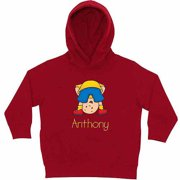 Personalized Caillou Silly Boy Toddlers' Red Hoodie