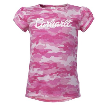 Carhartt For Kids Pink Camo Short Sleeve Tee In Pink - 2T