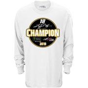 Kyle Busch Joe Gibbs Racing Team Collection 2019 Monster Energy NASCAR Cup Series Champion Circle Long Sleeve T-Shirt -