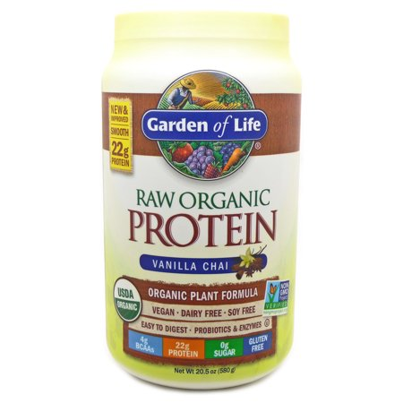 Raw Protein Vanilla Spiced Chai By Garden Of Life 20 Ounces