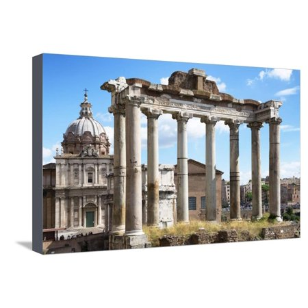 Dolce Vita Rome Collection - Roman Columns Rome Stretched Canvas Print Wall Art By Philippe Hugonnard - Plastic Roman Columns For Sale
