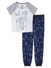 197622928f Girls Blue Owl Pajamas Lightweight We Are All Made of Stars Sleep Set. Joe  Boxer