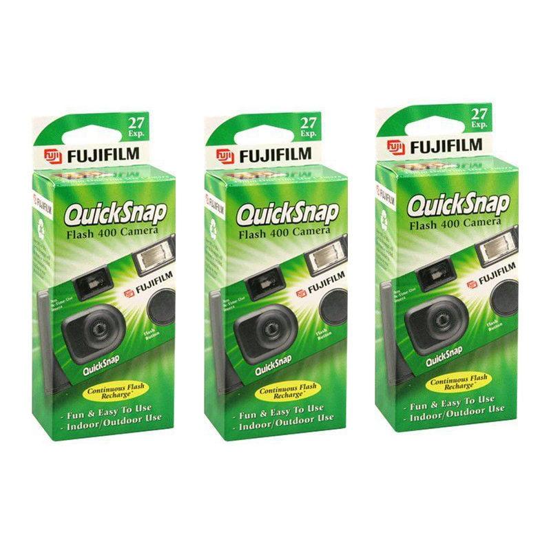 3 FujiFilm Quicksnap Flash 400 ASA Disposable Single Use 35mm Camera 2020 Date by Fujifilm