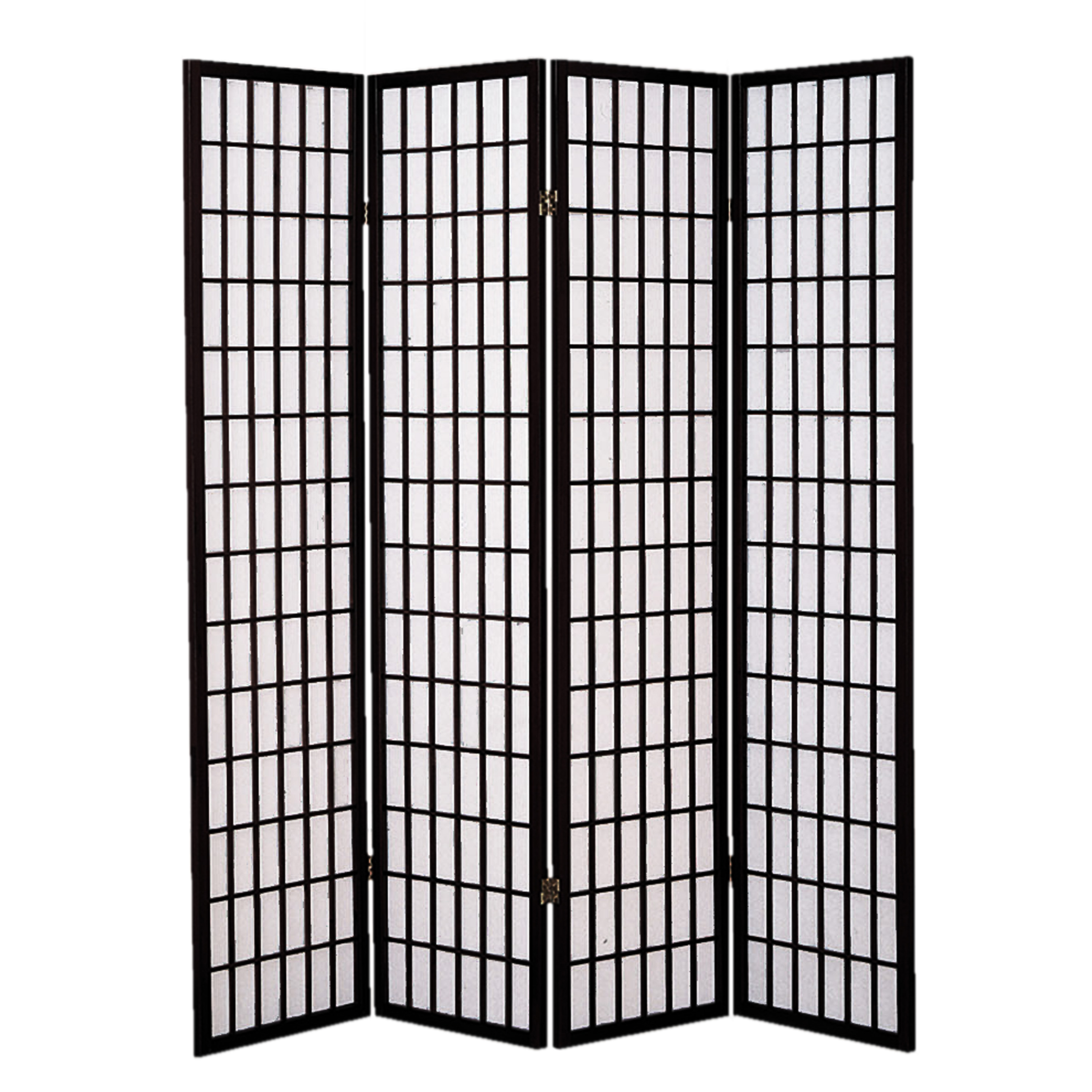 Screen Gems Shoji 4 Panel Screen Black SG-530-4