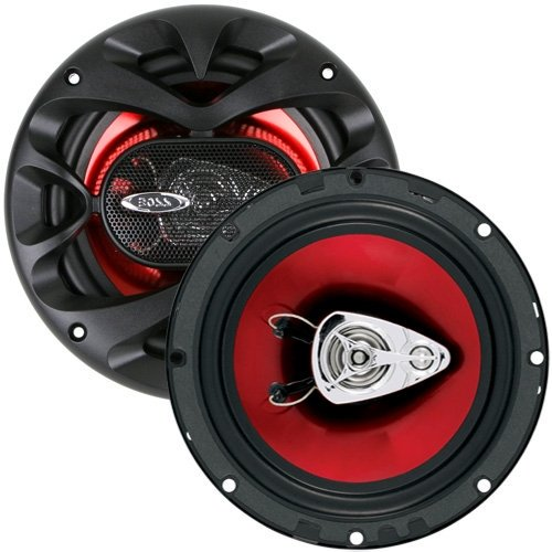 "Boss 506UA In Dash CD//USB//SD MP3 Receiver + 2 CH6530 6.5/"" 300W 3-Way Speakers"