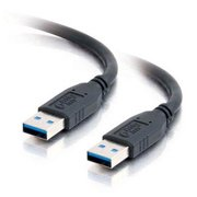 6' ft Foot  Black USB 3.0 Type A Male to Male SuperSpeed Shielded Cable Cord