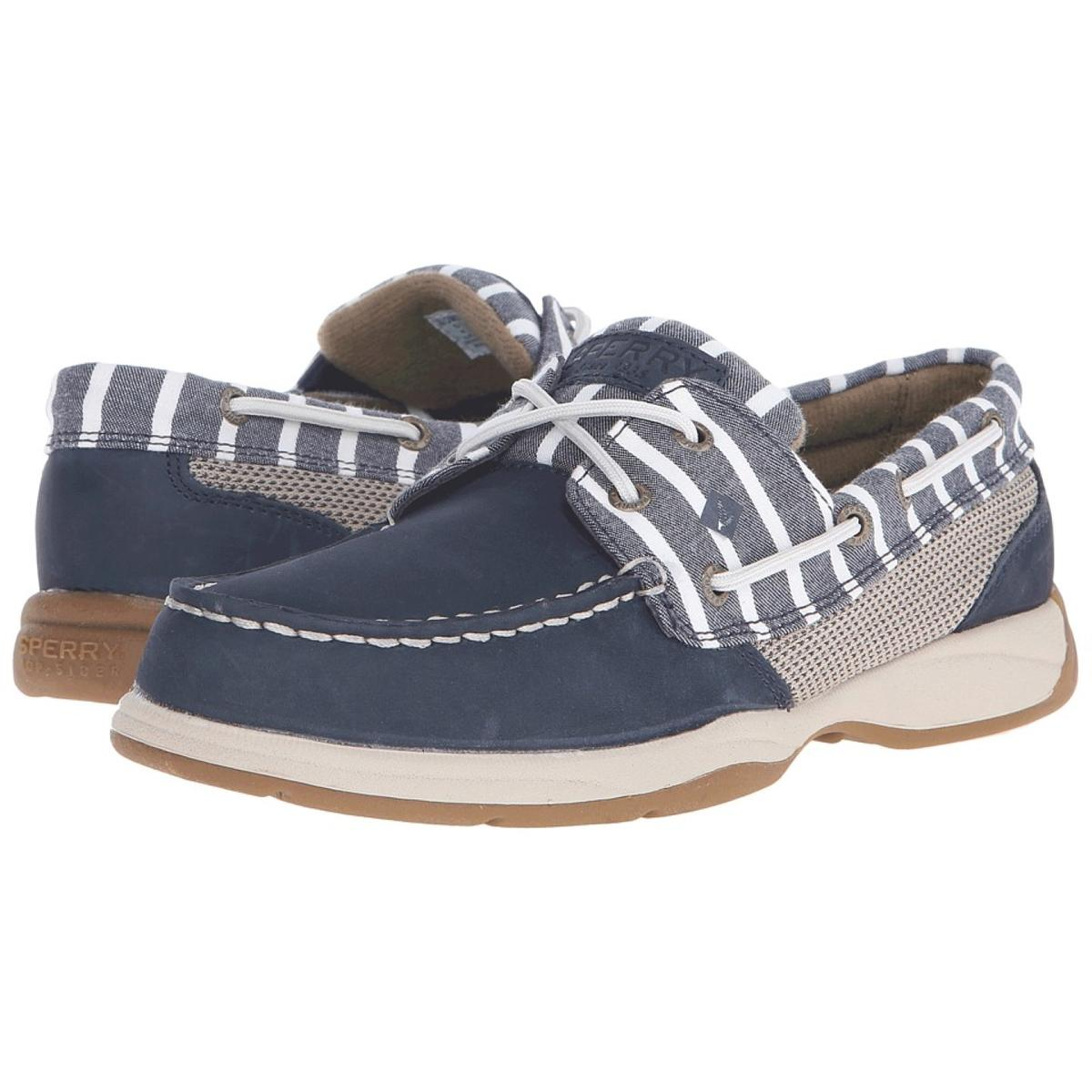 Sperry Top-Sider Intrepid Stripe- Women's Womens Navy Boat Shoes