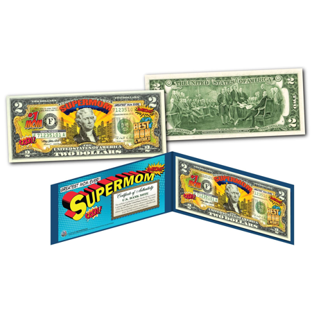 HAPPY MOTHER'S DAY - #1 MOM - SUPER MOM - Genuine Legal Tender U.S. $2 Bill](Happy Mothers Fay)