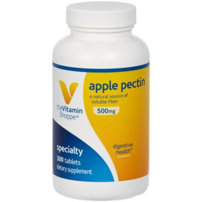 Apple Pectin 500mg  A Natural Source of Soluble Fiber, Supports Digestive Health  Promotes Regularity  Dairy, Gluten  Soy Free Tablet (300 Tablets) by The Vitamin