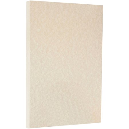 Parchment Cardstock (JAM Paper® Parchment Legal Size Cardstock - 8.5 x 14 - 65 lb Brown - 50 Sheets/Pack )