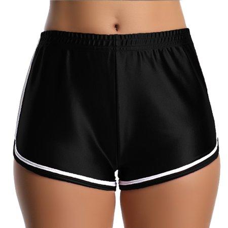 FITTOO Womens Yoga Hot Shorts Shiny Metallic Pants Rave Booty Dance underwear yoga