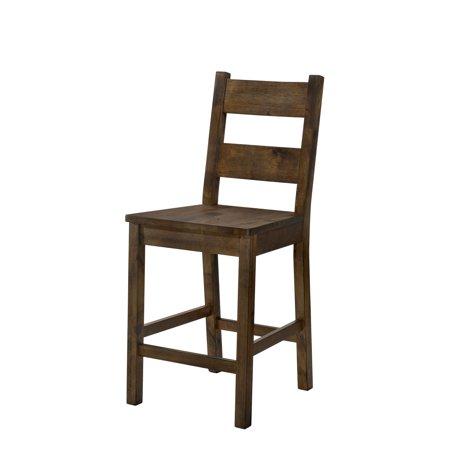 Furniture of America Belton II Rustic Oak Counter Height Dining Chair