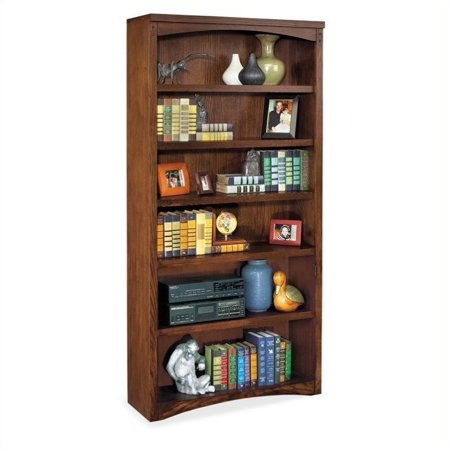Martin Furniture Mission Pasadena 6 Shelf Open Wood Bookcase (Mission Style Open Slat)