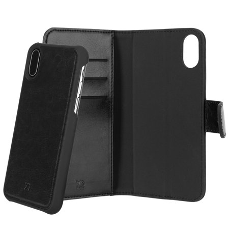 cheap for discount ece24 0df99 iPhone X Xqisit Black Eman Magnetic Wallet Case