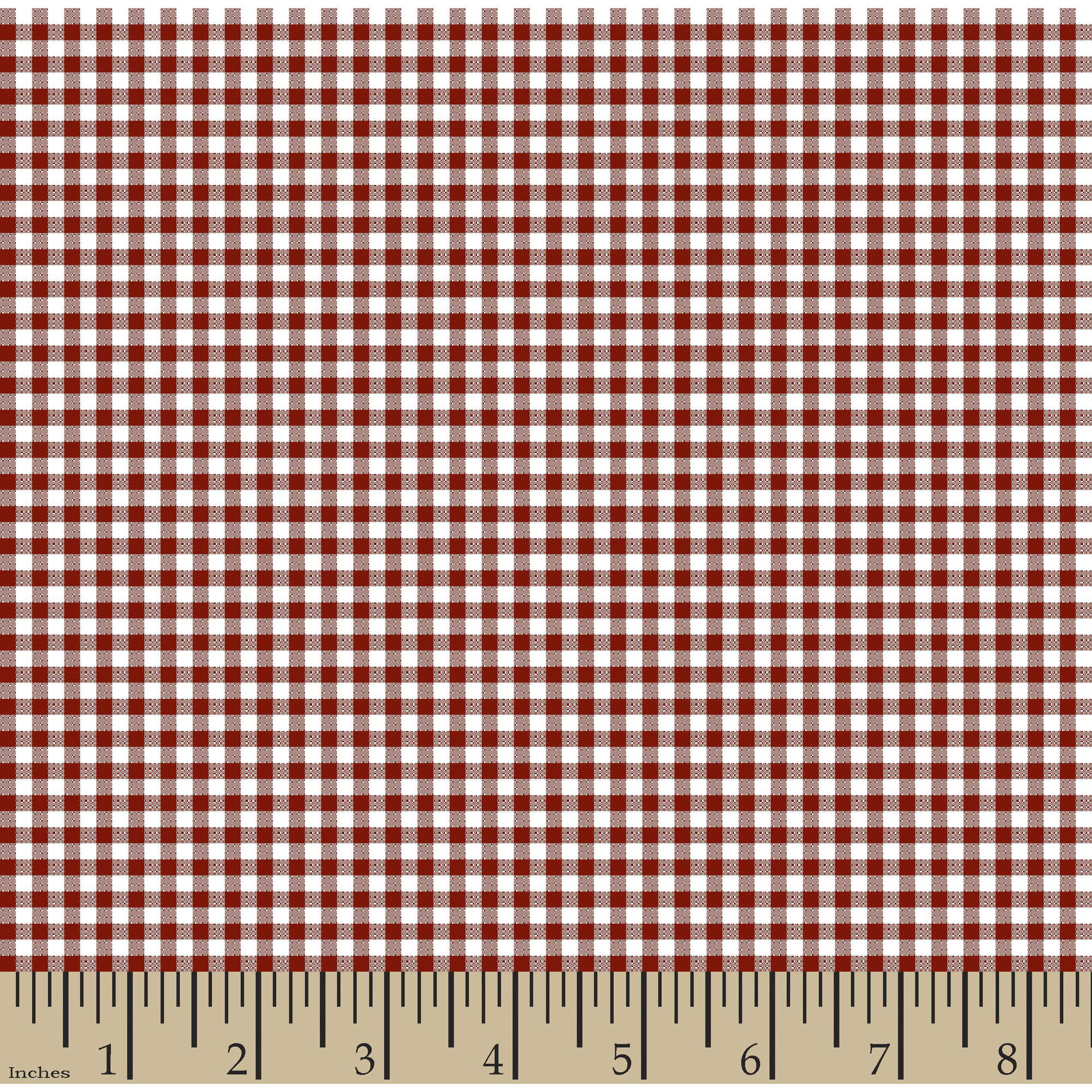 "Woven Gingham Check 1/8"" 65/35 Poly/Cotton Fabric by the Yard, Poppy Red, 44/45"" Width"
