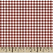 "Woven Gingham Check 1/8"", Poppy Red, 44/"