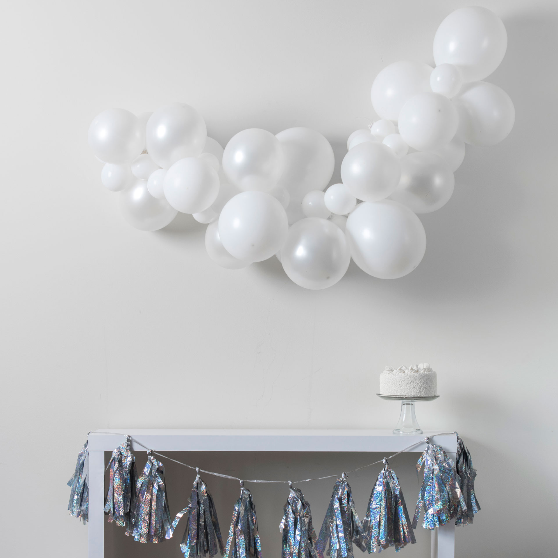 Simply White Balloon Garland Walmart Com Walmart Com